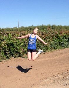 why not speed up the process -- go running in a vineyard!